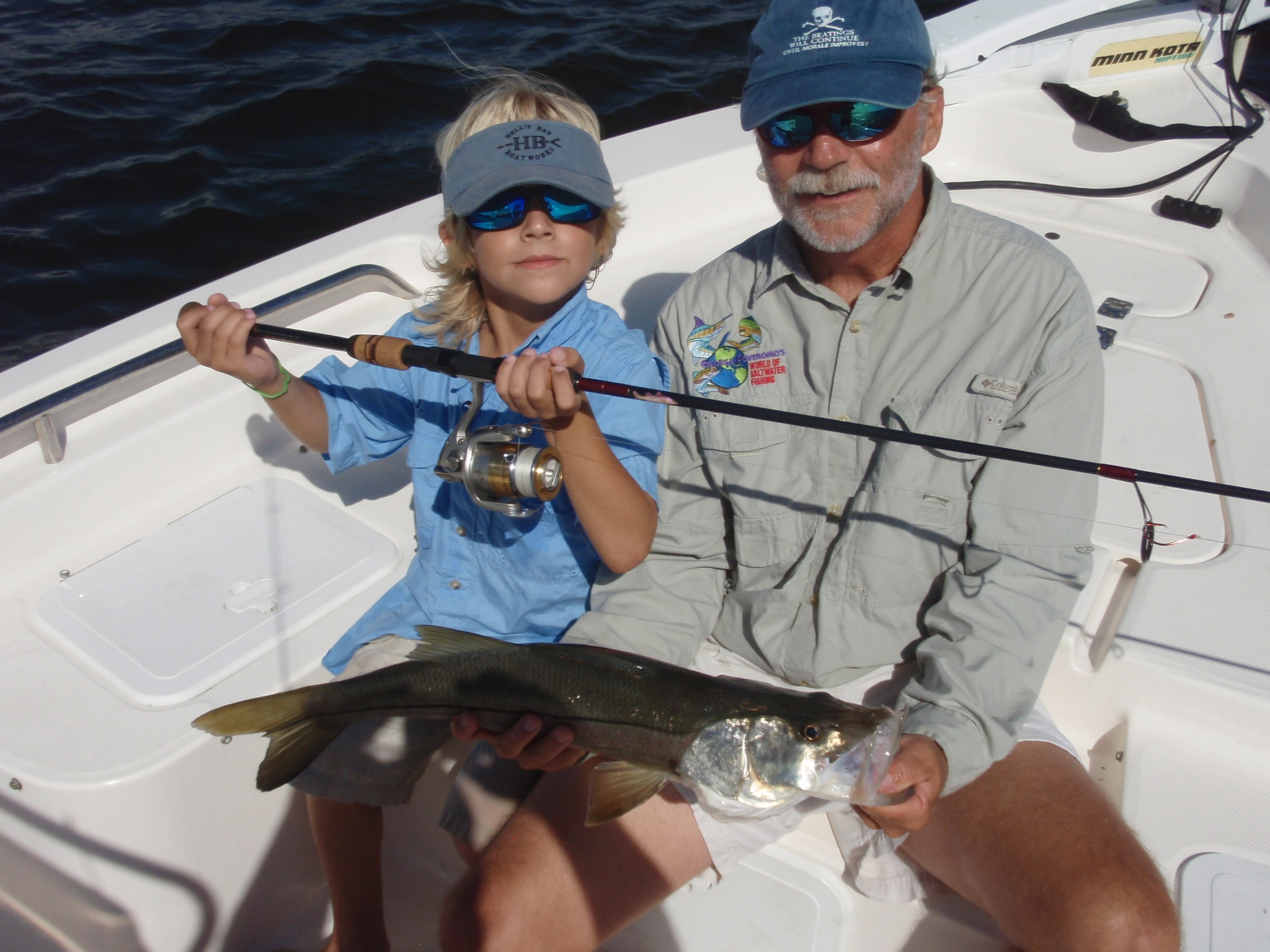 Bob Chew and son AJ with a Smith & Albury rod and a nice snook.
